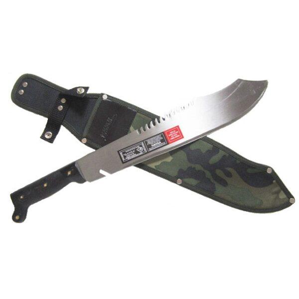Hansa-15.5-inch-Rambo-weighted-sawback-machete-with-Camo-Sheath