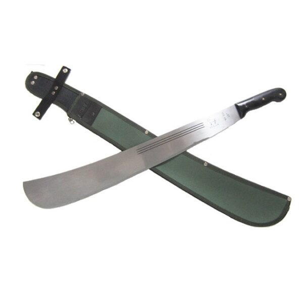 Hansa-24-inch-tres-canales-weighted-machete-Black-handle-with-sheath