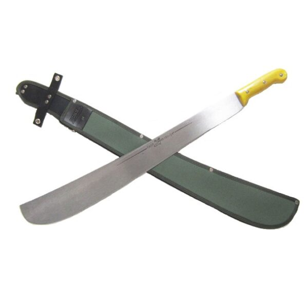 Hansa-24-inch-tres-canales-weighted-machete-yellow-handle-with-sheath