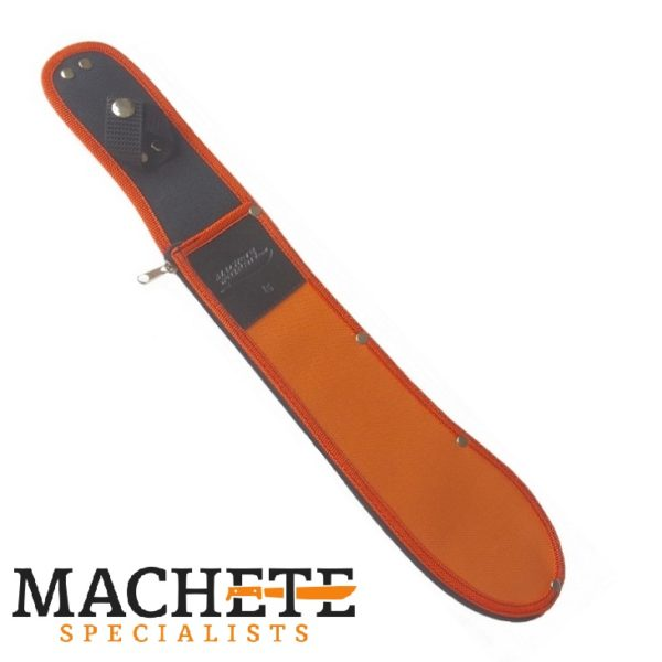 Orange Canvas 14 Inch Bolo Machete Sheath by Machete Specialists