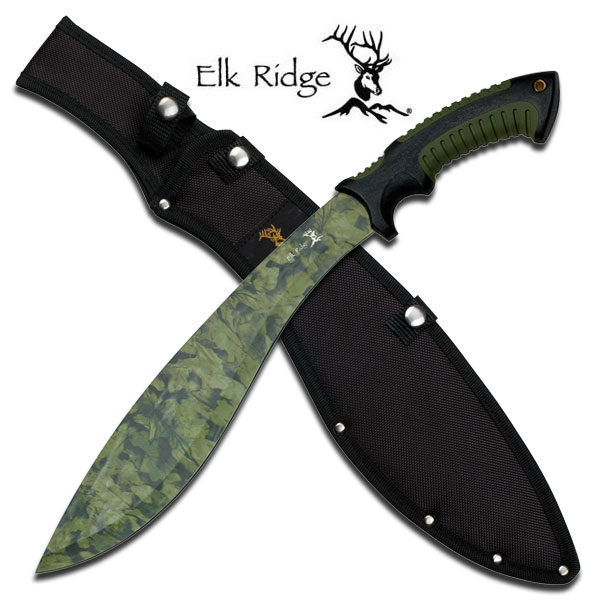 Elk Ridge Camo Kukri Machete with sheath ER523CA 2